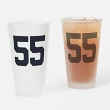 55 55th Birthday 55 Years Old Drinking Glass