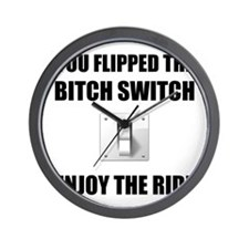 Bitch Switch Wall Clock