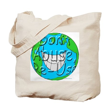 Earth Friendly Canvas Shopping Tote Bag