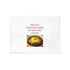 hockey joke 5'x7'Area Rug