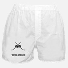 Hockey Sticks And Puck (Custom) Boxer Shorts