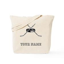 Hockey Sticks And Puck (Custom) Tote Bag