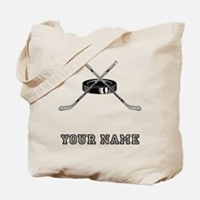 Hockey Sticks And Puck (Custom) Tote Bag