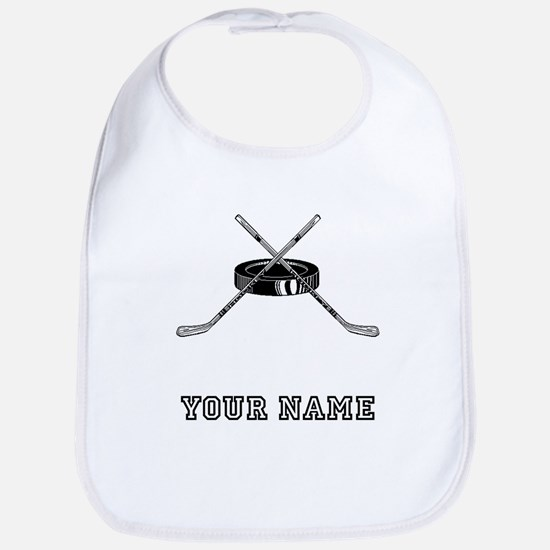 Hockey Sticks And Puck (Custom) Bib