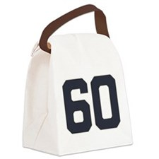 60 60th Birthday 60 Years Old Canvas Lunch Bag