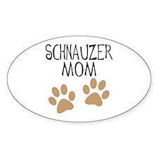 Big Paws Schnauzer Mom Oval Decal