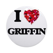 I Love Griffin Ornament (Round)