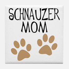 Big Paws Schnauzer Mom Tile Coaster