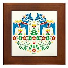 Swedish Dala Horse Framed Tile