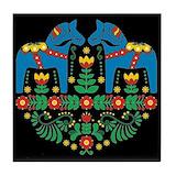 Dala horse Tile Coasters