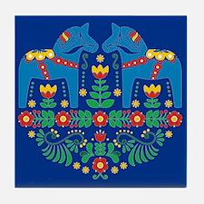 Swedish Dala Horse Tile Coaster