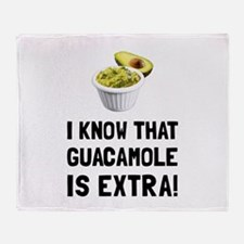 Guacamole Is Extra Throw Blanket