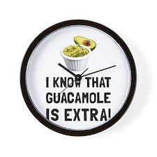 Guacamole Is Extra Wall Clock