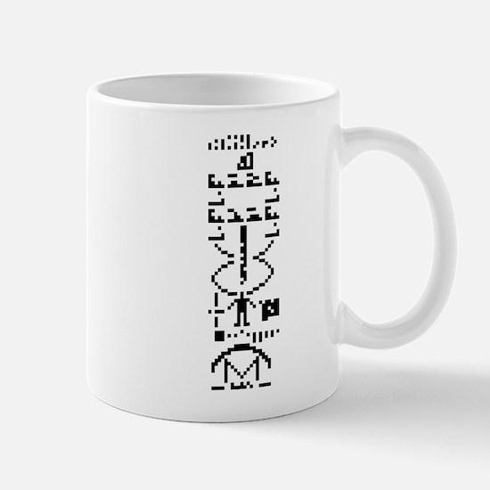 Arecibo Binary Message 1974 Mugs