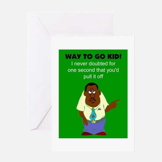 African American congratulations Greeting Cards