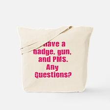 Policewoman PMS Tote Bag