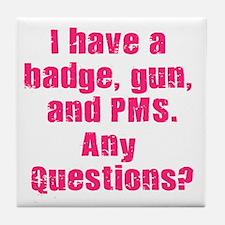 Policewoman PMS Tile Coaster