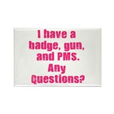 Policewoman PMS Rectangle Magnet