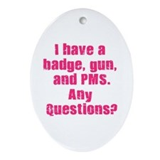 Policewoman PMS Oval Ornament