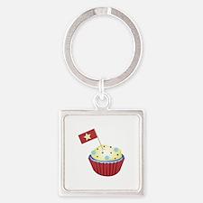 Patriotic Cupcake Keychains