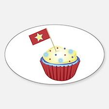 Patriotic Cupcake Decal