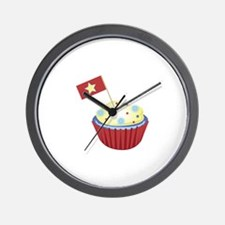 Patriotic Cupcake Wall Clock