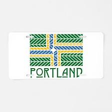 Chevron Portland Aluminum License Plate