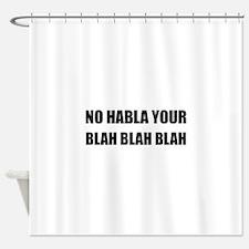 Habla Blah Blah Shower Curtain