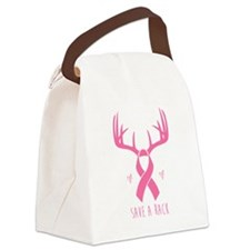 Save a Rack (Pink) Canvas Lunch Bag