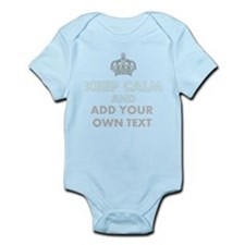 Keep Calm Add Text Body Suit