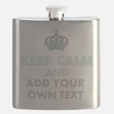 Keep Calm Add Text Flask