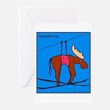 Mooskitow / Moose Ski tow Greeting Cards (Pk of 10