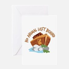 No Animal Left Greeting Cards