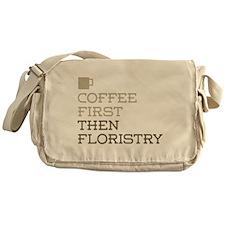 Coffee Then Floristry Messenger Bag