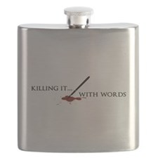 Killing It With Words (black) Flask