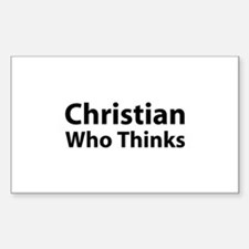 Christian Who Thinks Rectangle Decal