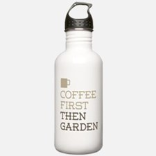 Coffee Then Garden Water Bottle