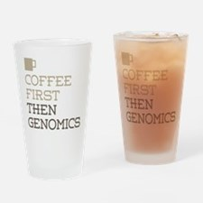 Coffee Then Genomics Drinking Glass
