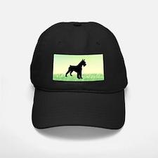 Grassy Field Schnauzer Dog Baseball Hat