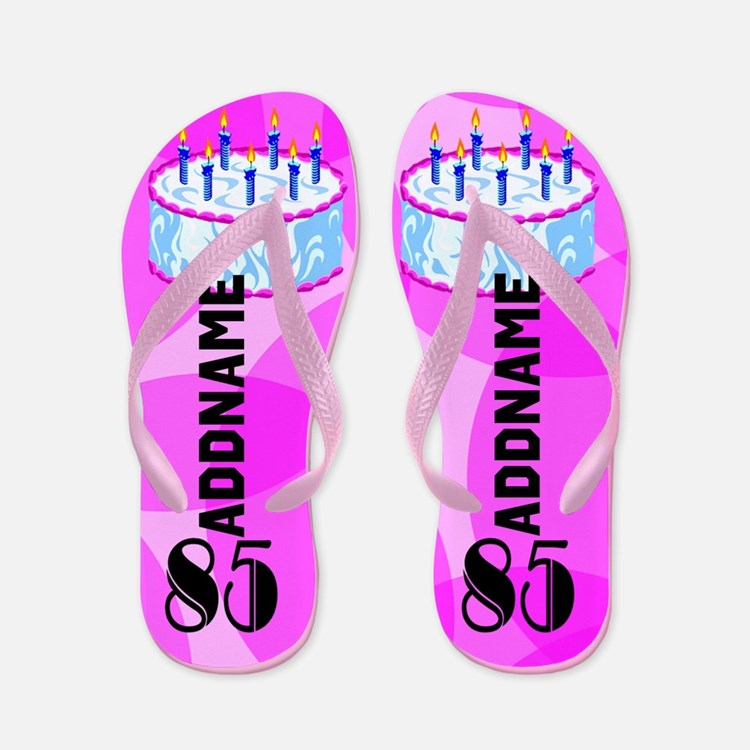 Adorable 85th Flip Flops