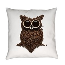 Coffee Owl Everyday Pillow