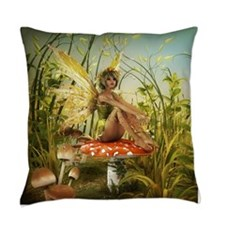 Indian Summer Fairy Everyday Pillow
