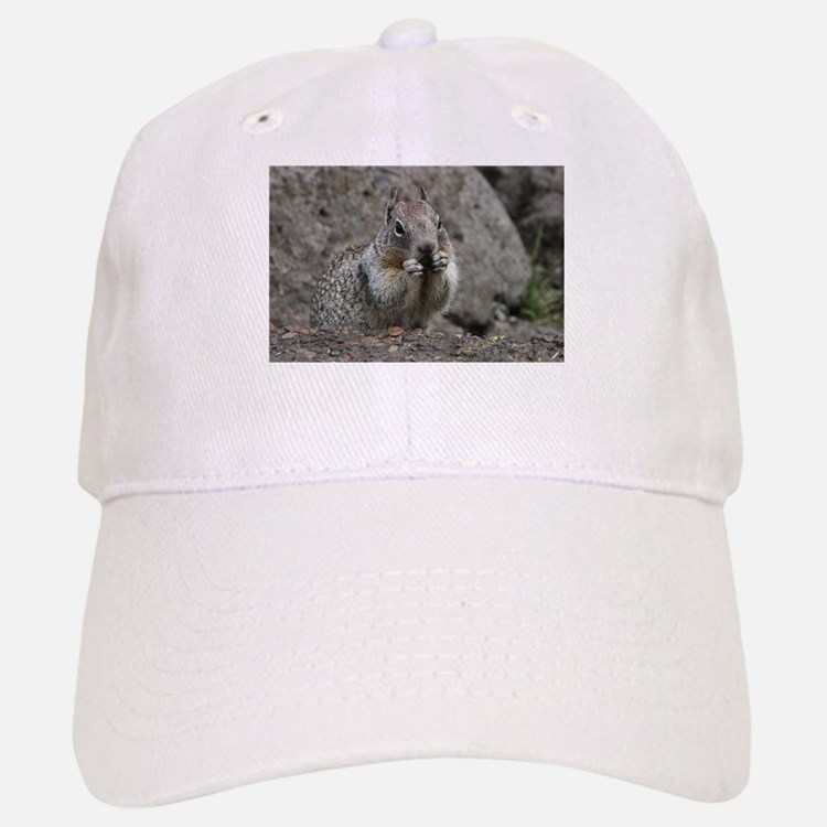 Squirrel Eating 4 Baseball Baseball Cap