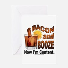 BACON and BOOZE Greeting Cards
