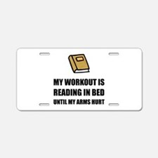 Reading In Bed Aluminum License Plate