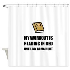Reading In Bed Shower Curtain