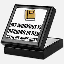 Reading In Bed Keepsake Box