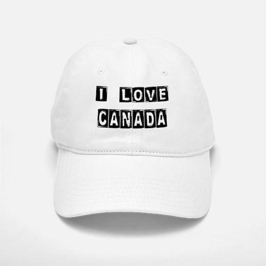 I Block Love Canada Baseball Baseball Cap