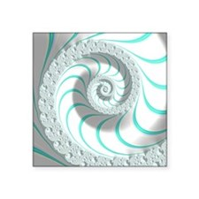 """Beautiful Pastel Abstract F Square Sticker 3"""" x 3"""""""