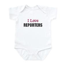 I Love REPORTERS Infant Bodysuit